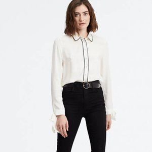 Levi's Austyn Top Snap Buttons Tie Sleeves